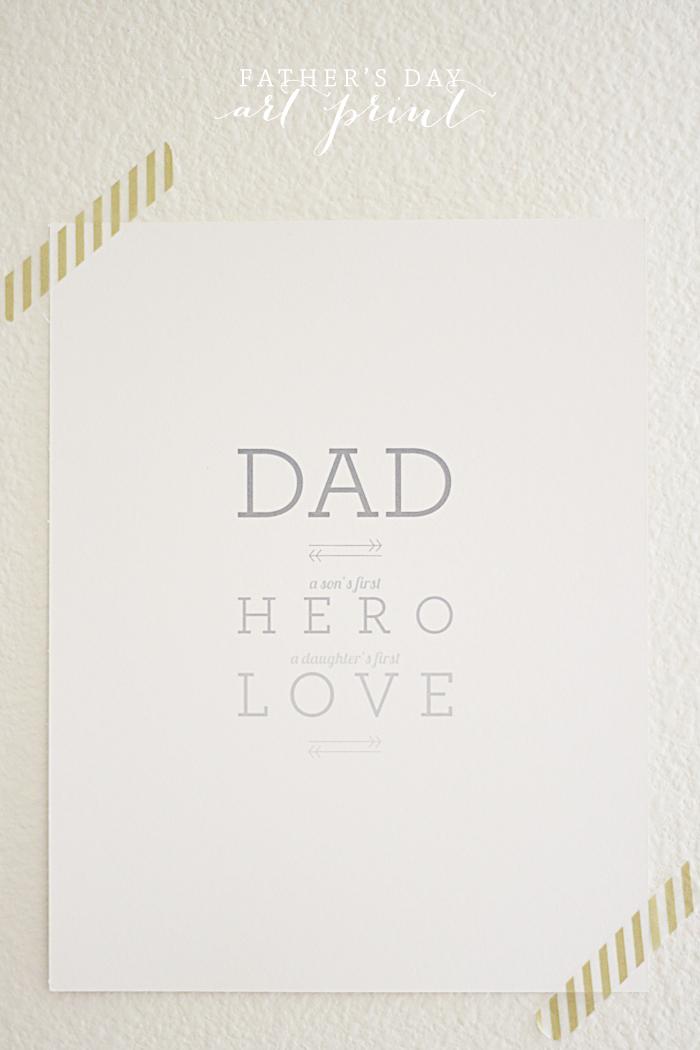 Fathers Day Art Print | Ashlee Proffitt