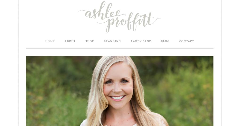 Ashlee Proffitt New Site