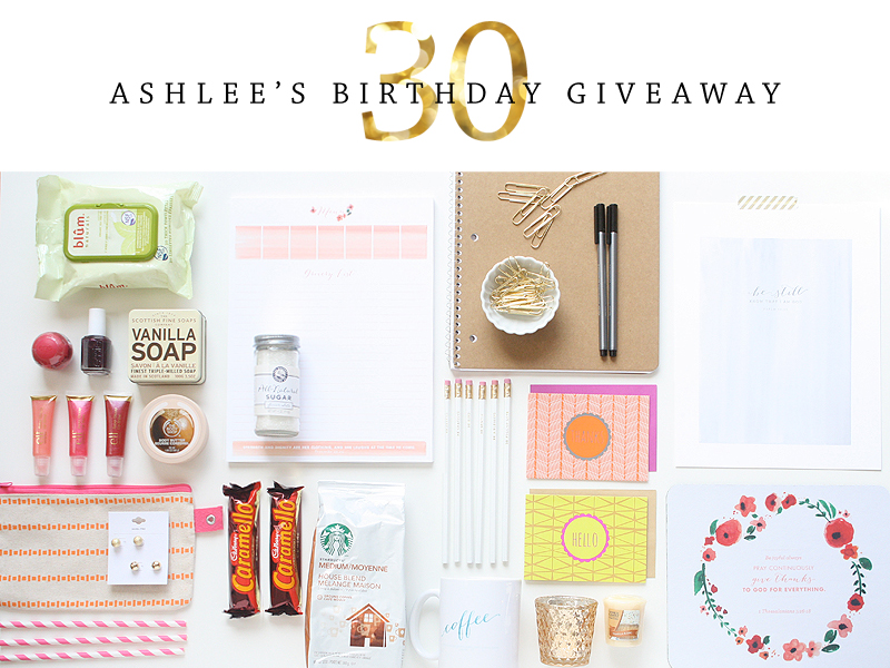 Ashlee Proffitt | Birthday Giveaway