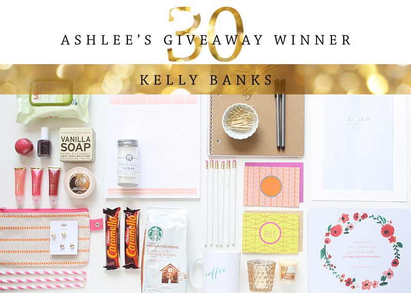 Ashlee Turns 30 | Giveaway WInner