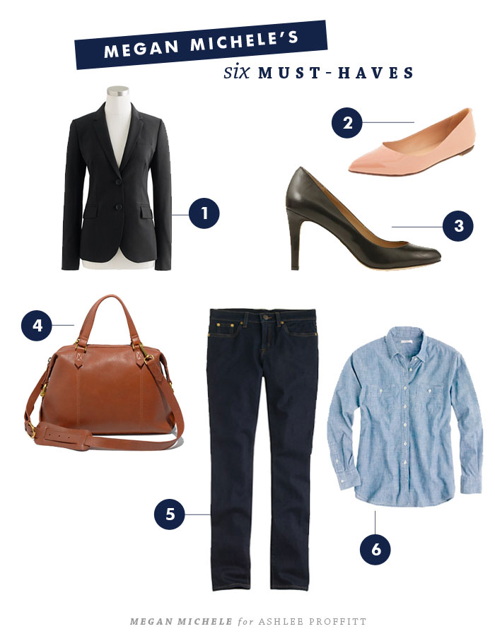 6 Wardrobe Must-Haves by Megan Michele for Ashlee Proffitt