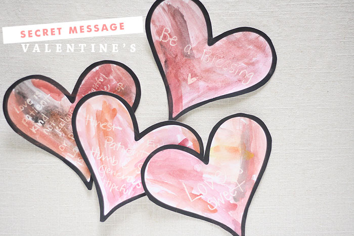 Valentine's Secret Message Hearts | Ashlee Proffitt | Mama Mondays
