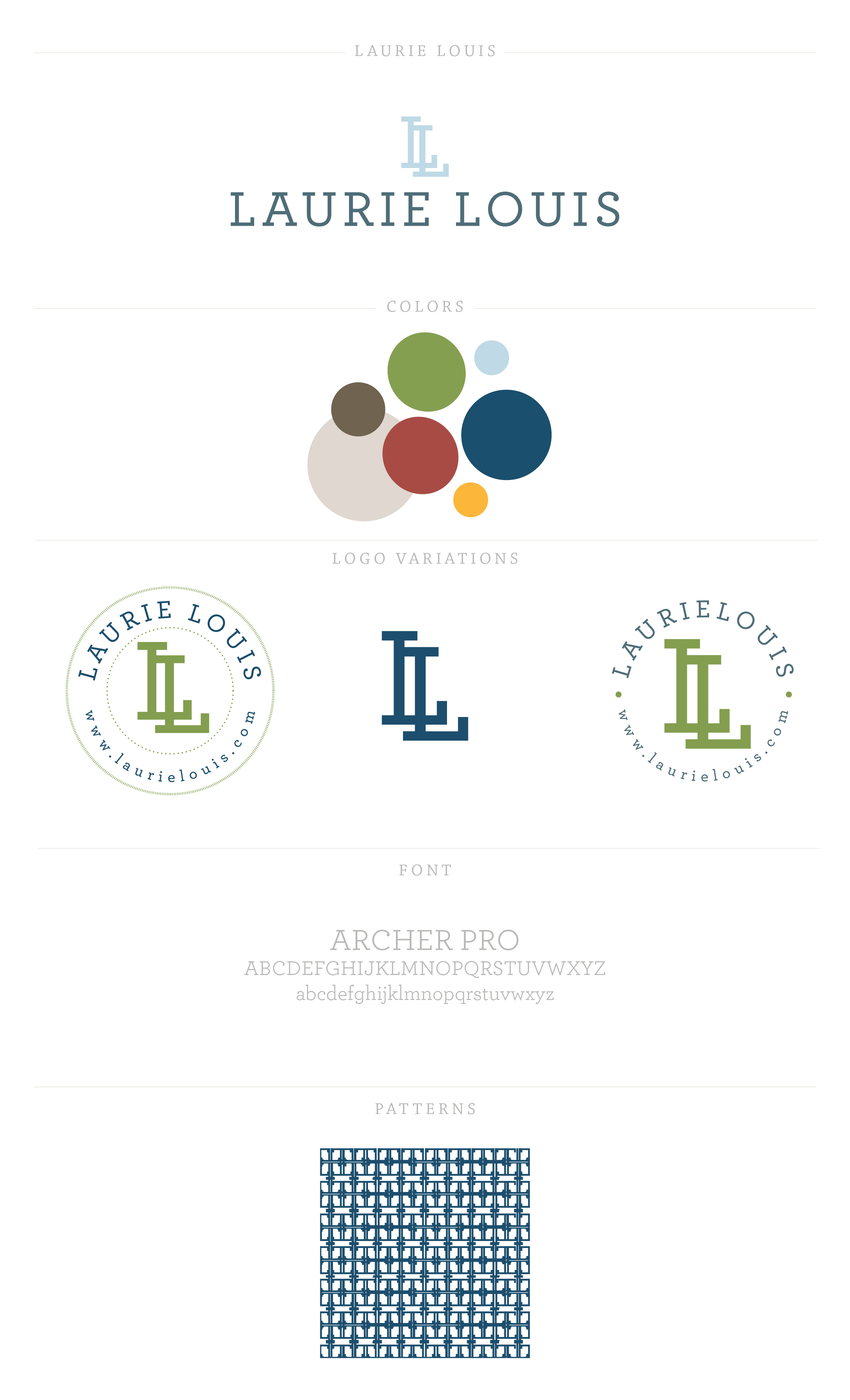 Branding for Laurie Louis by Ashlee Proffitt