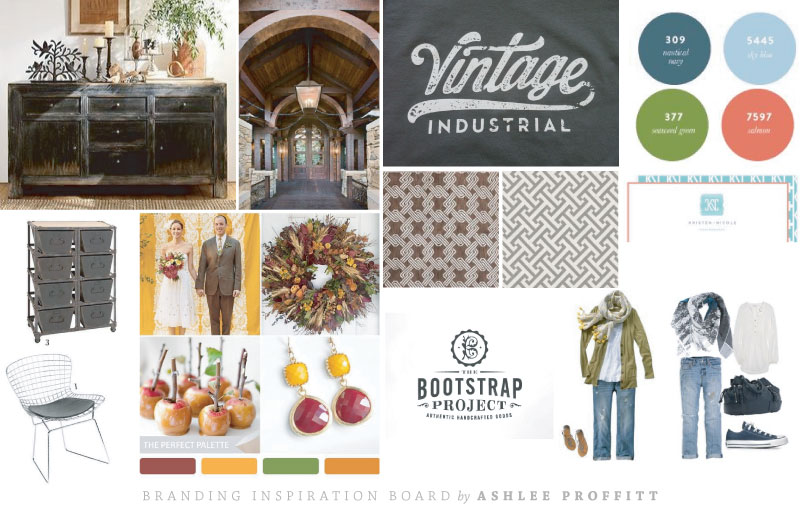Brand Inspiration Board by Ashlee Proffitt for Laurie Louis