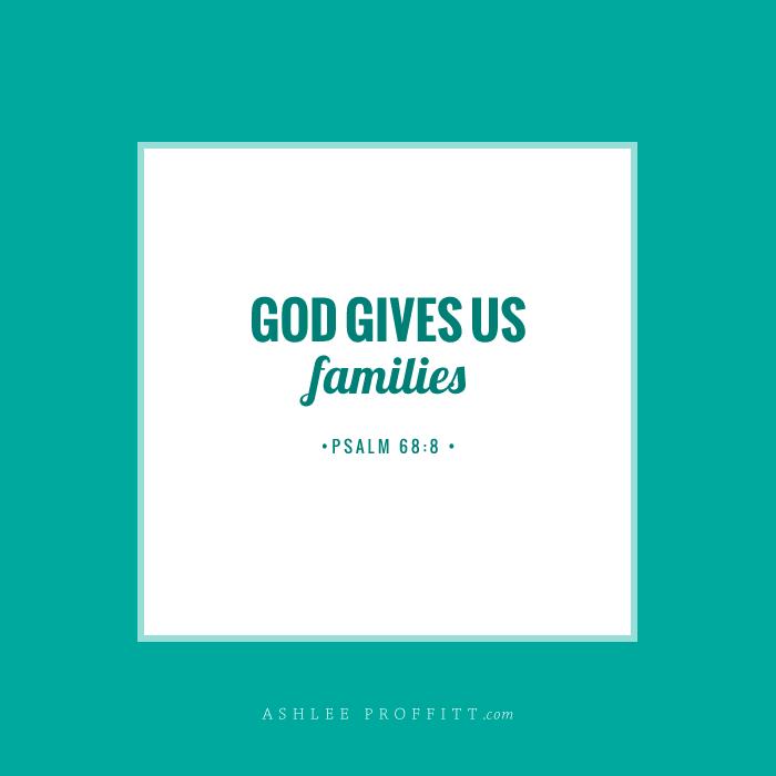 Memory Verse | Psalm 68:6