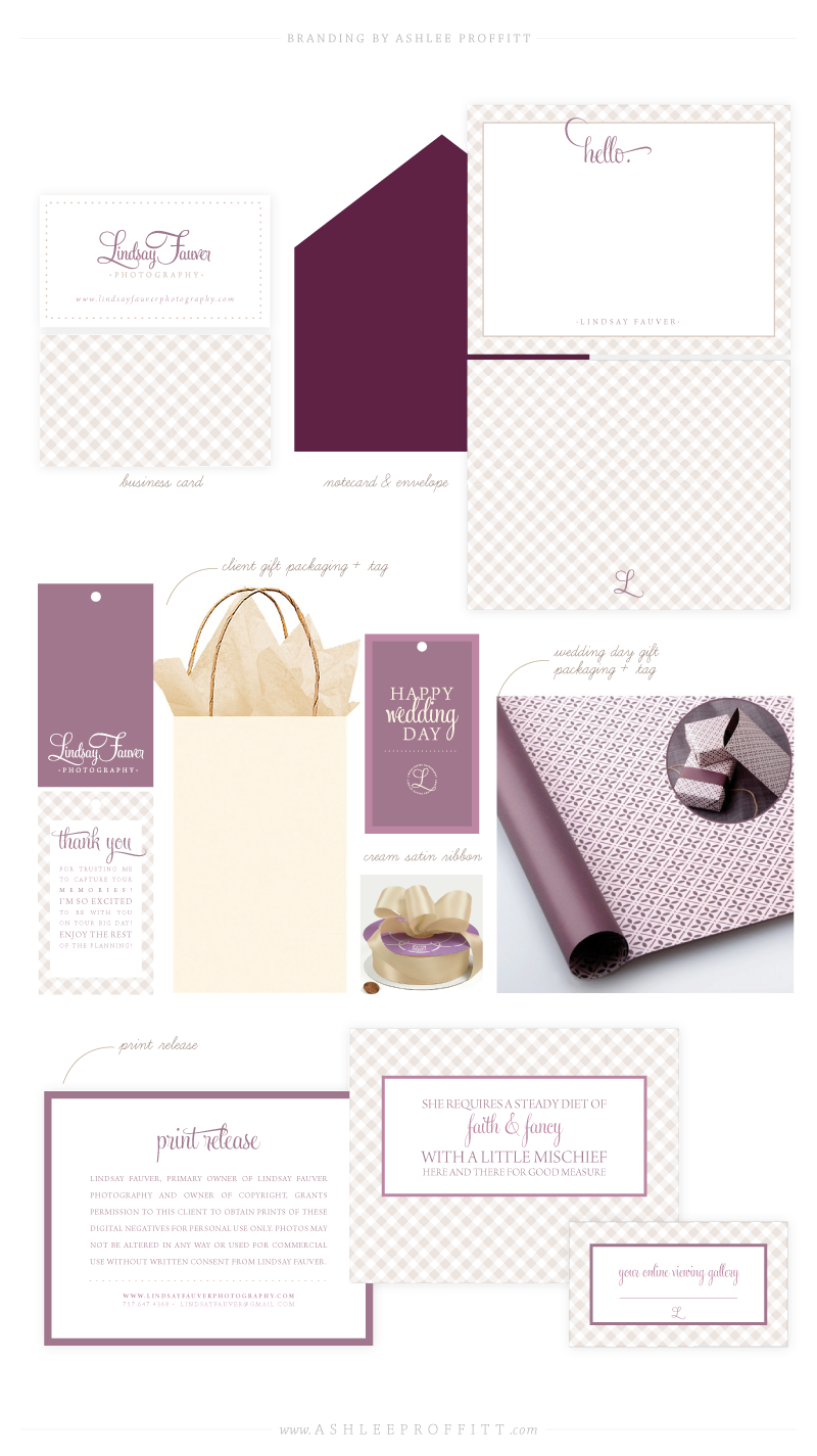 Collateral Brand Board for Lindsay Fauver   Branding Design by Ashlee Proffitt