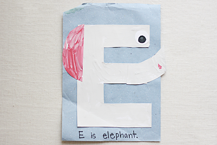 E is for Elephant! Intentional Mama by Ashlee Proffitt