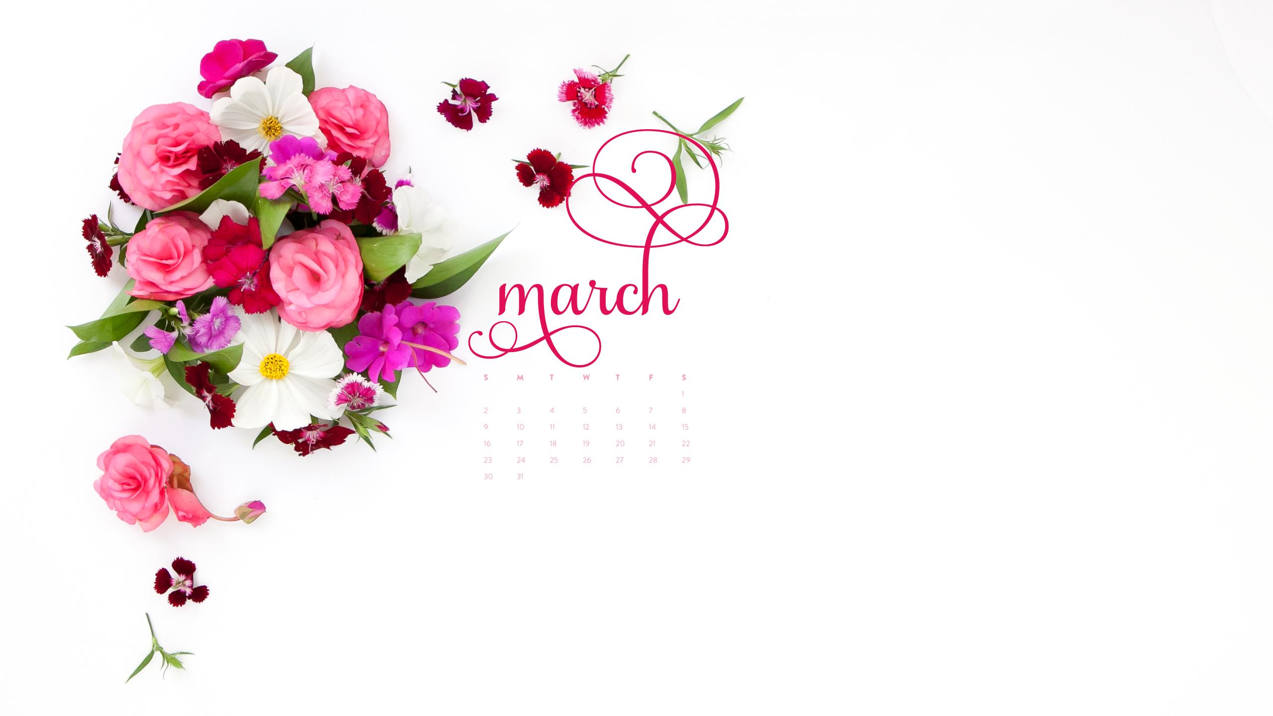 Calendar Wallpaper March : Desktop calendar march ashlee proffitt