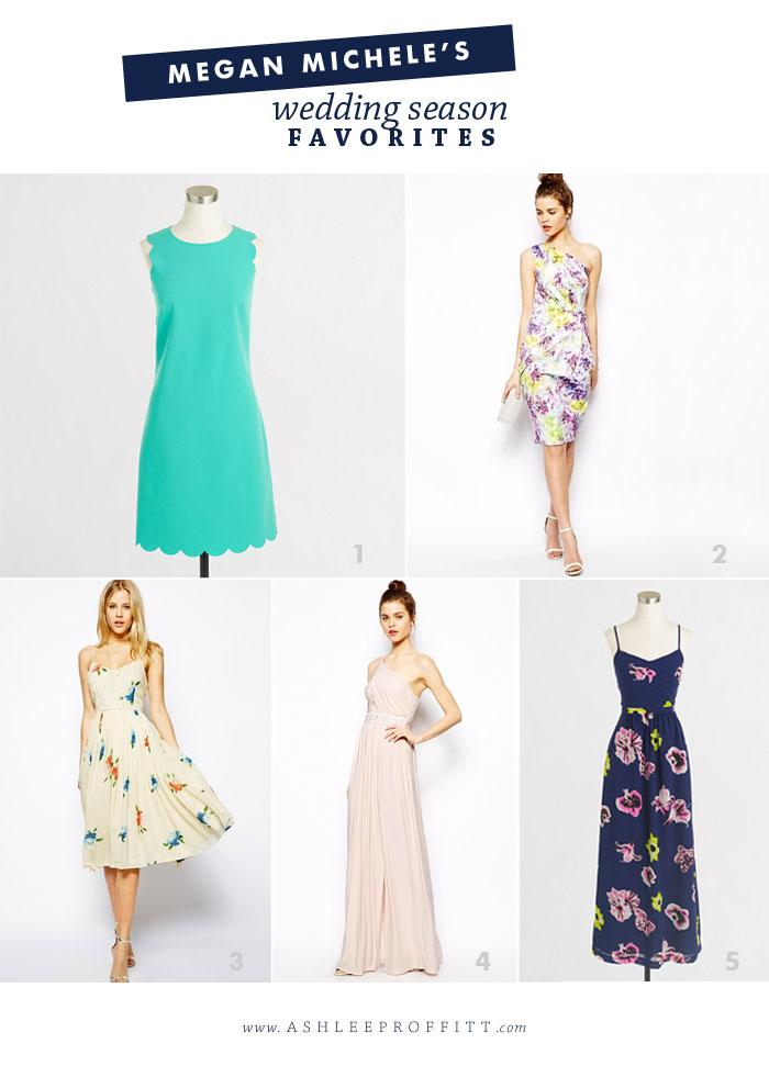 Fashion & Style: Wedding Season Favorites | Curated by Megan Michele for AshleeProffitt.com/blog