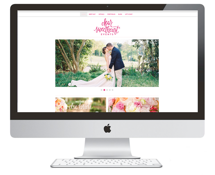 Website | Dear Sweetheart Events | Branding Development & Website Design by Ashlee Proffitt
