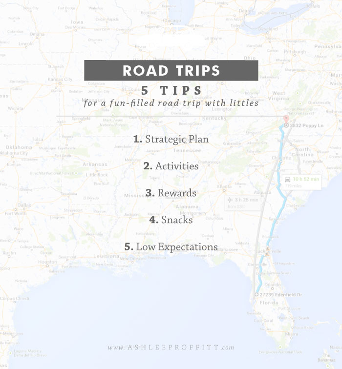 Intentional Mama: Road Trip Tips | www.AshleeProffitt.com