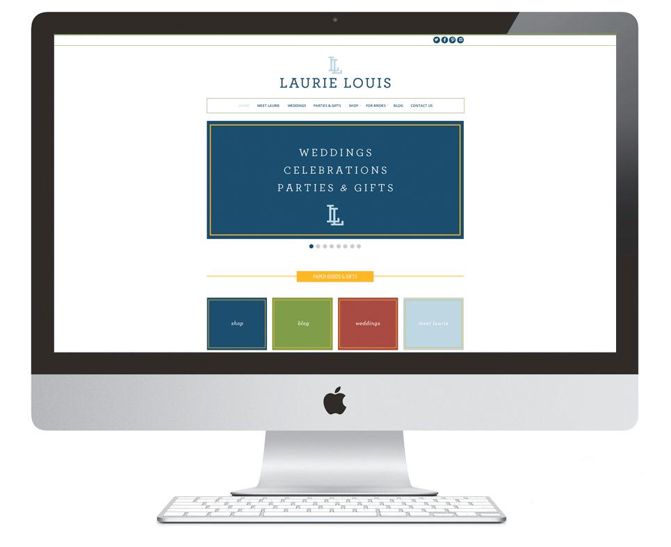 Branding & Website Design by Ashlee Proffitt for LaurieLouis.com