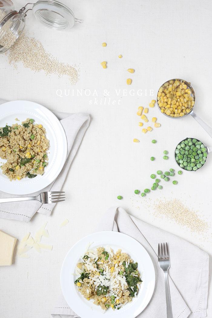 Recipe: Quinoa + Veggie Skillet   Kate Sacra for Ashlee Proffitt