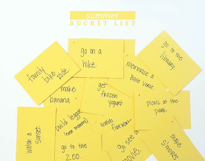 Summer Bucket List | Intentional Mama Series by Ashlee Proffitt