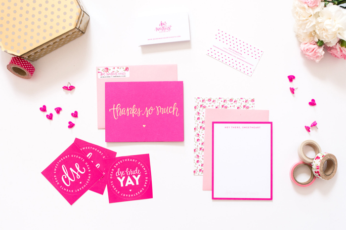 Branding Elements & Collateral Pieces | Dear Sweetheart Events | Branding by Ashlee Proffitt