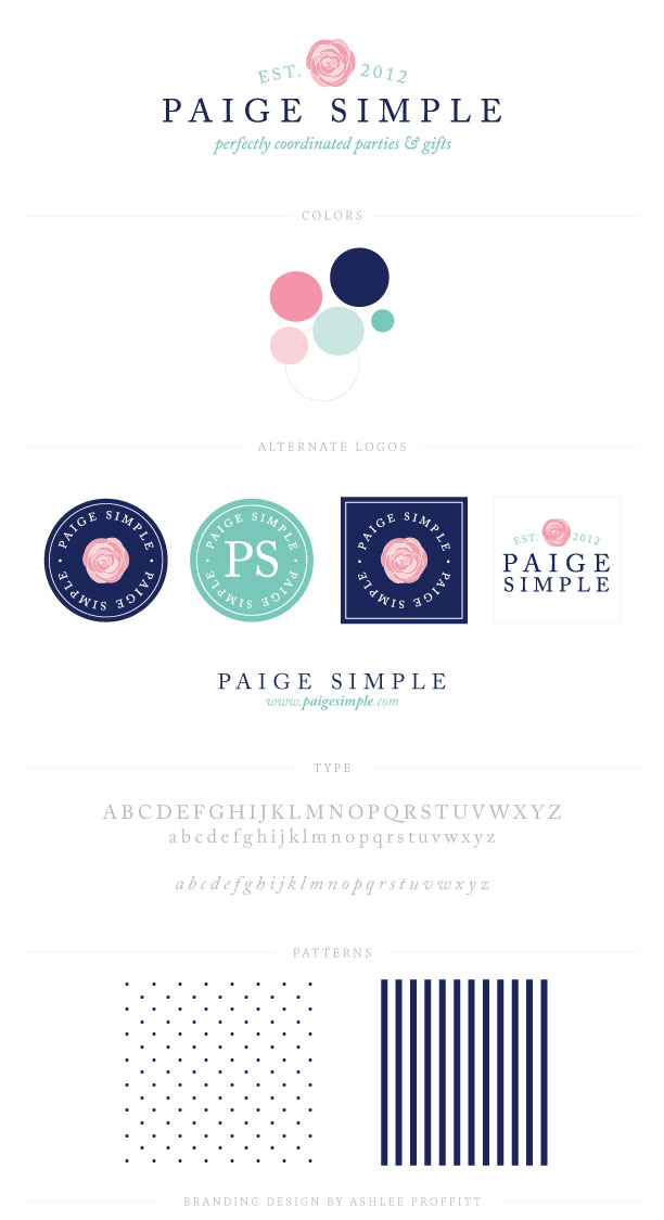 Brand Board for Paige Simple by Ashlee Proffitt