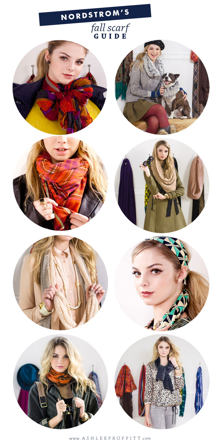Fashion: Nordstroms Scarf Guide | ashleeproffitt.com