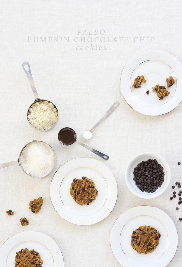 Recipe: Paleo Pumpkin Chocolate Chip Cookies by Kate Sacra for Ashlee Proffitt