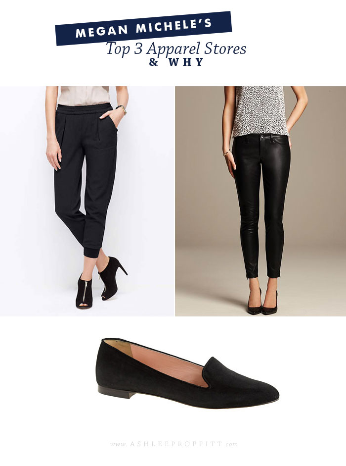 Fashion: Favorite Shops | Megan Michele for AshleeProffitt.com | Banana Republic | Ann Taylor | J.Crew
