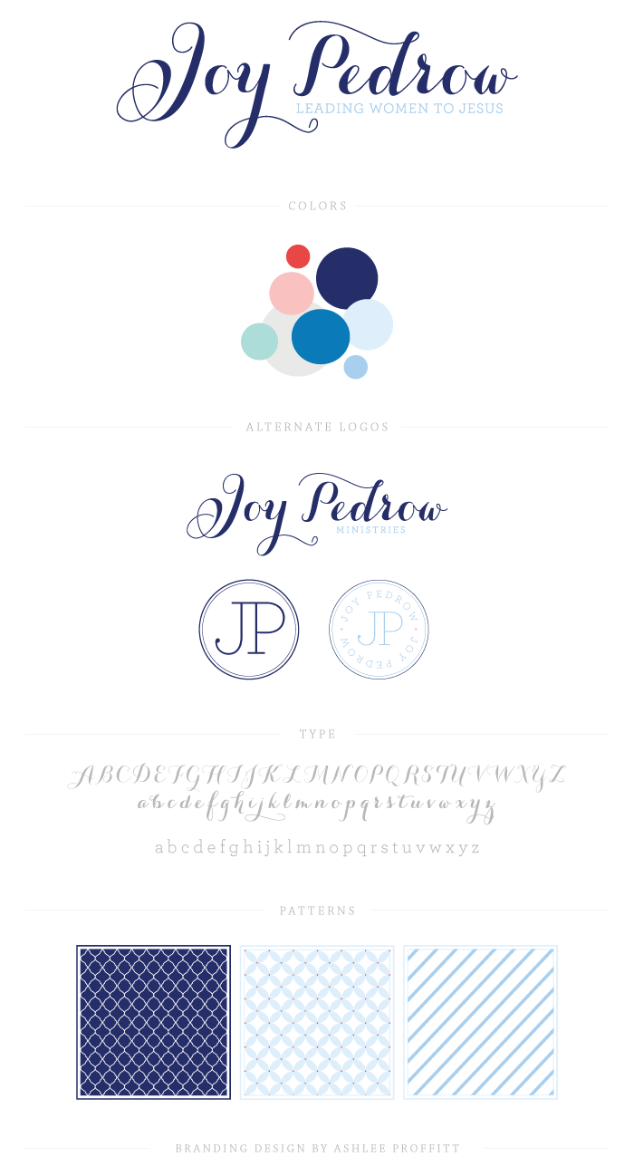 Brand Board for Joy Pedrow by Ashlee Proffitt