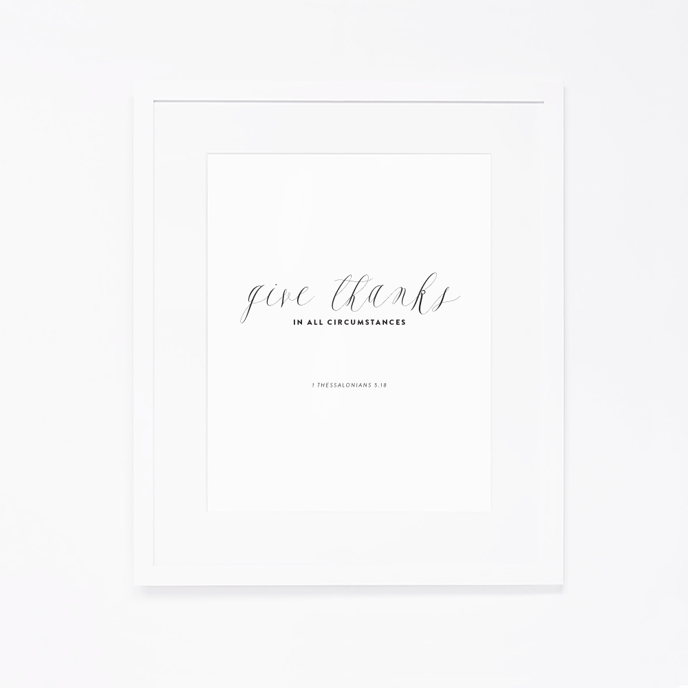 Give Thanks Art Printable by Ashlee Proffitt
