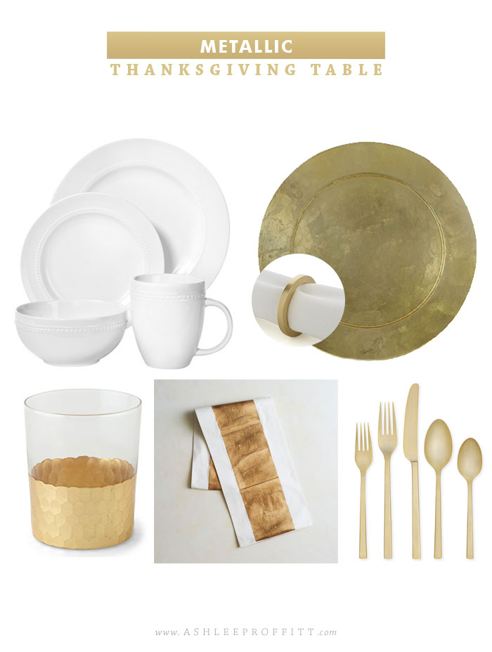 Thanksgiving Table in Gold | Curated by Ashlee Proffitt