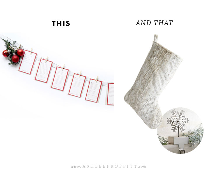 This & That | Christmas Advent Calendar + Pier 1 Stocking + Crate & Barrel Stocking Holder | by Ashlee Proffitt