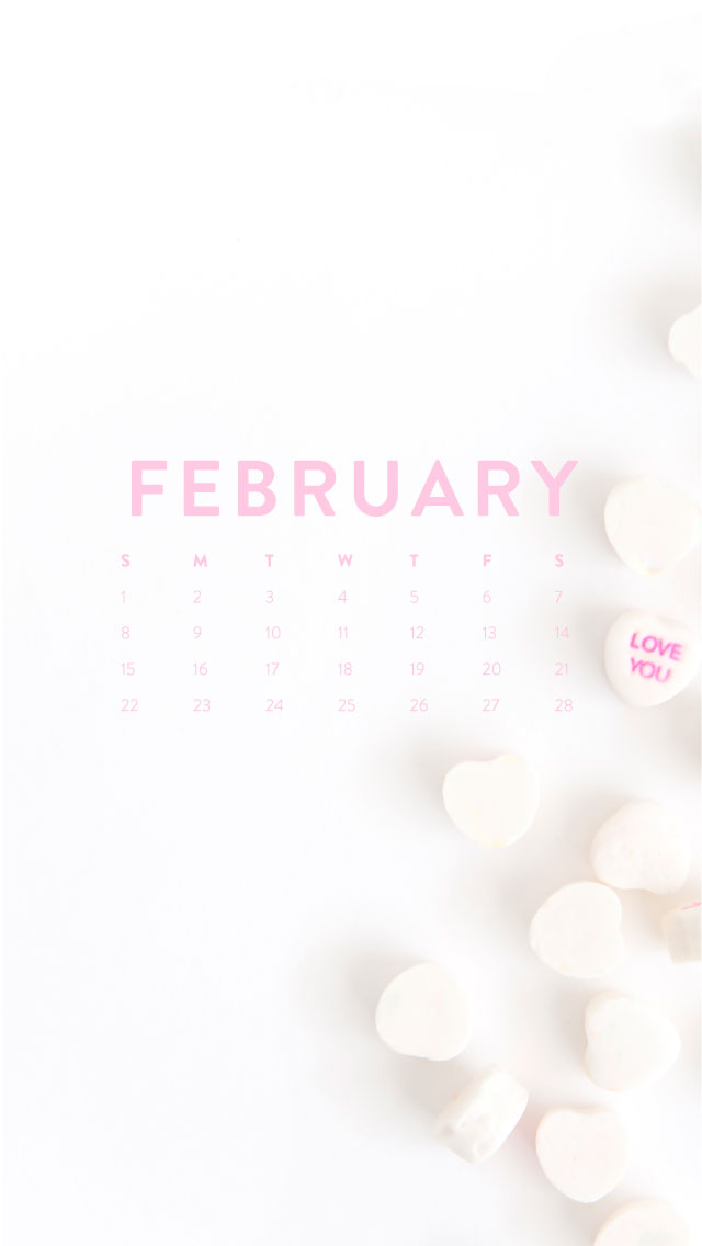 February Calendar Wallpaper Phone : Hello february desktop iphone wallpapers ashlee proffitt