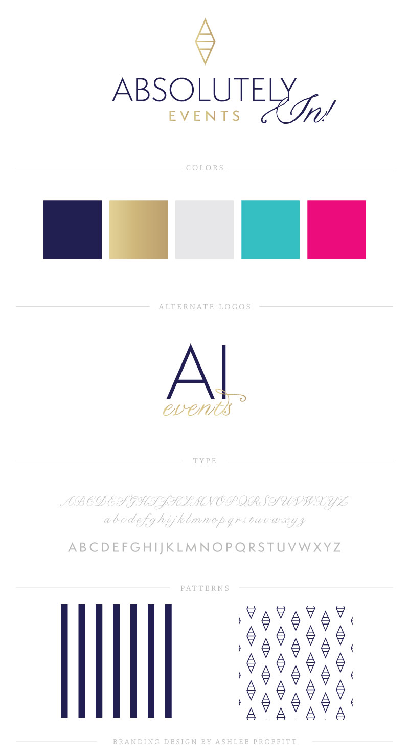 Absolutely In! Events Brand Elements by Ashlee Proffitt