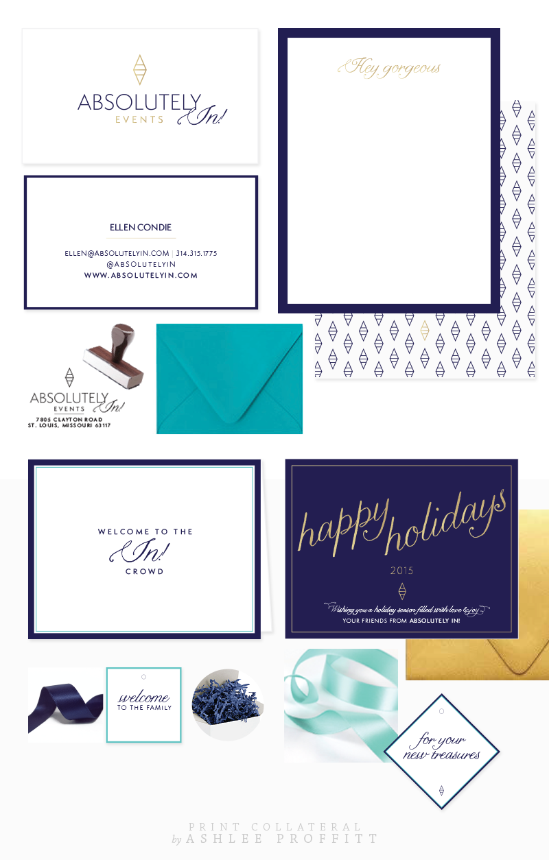 Absolutely In! Events Print Collateral by Ashlee Proffitt