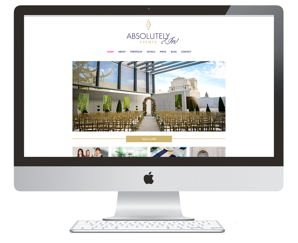 Absolutely In! Events Website by Ashlee Proffitt