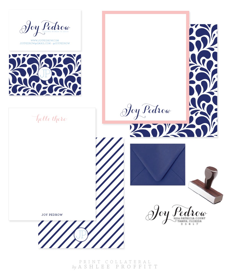 Joy Pedrow Collateral Elements | by Ashlee Proffitt