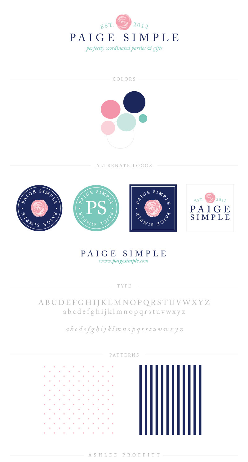 Paige Simple Brand Elements | by Ashlee Proffitt