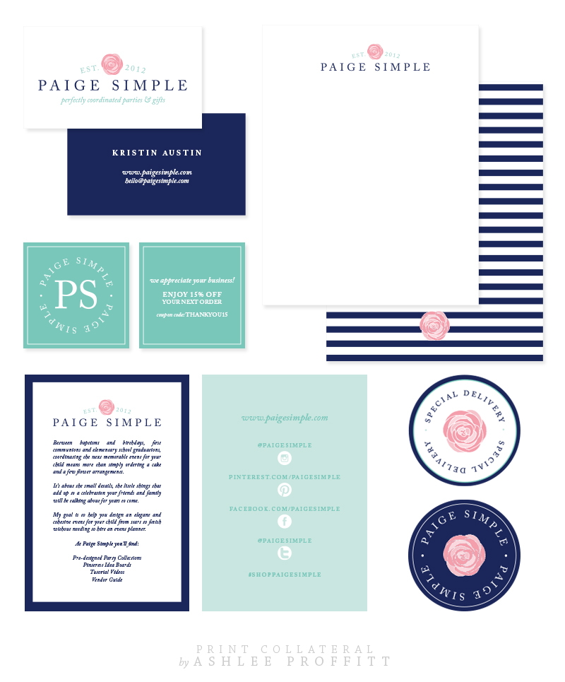Paige Simple Print Collateral | by Ashlee Proffitt