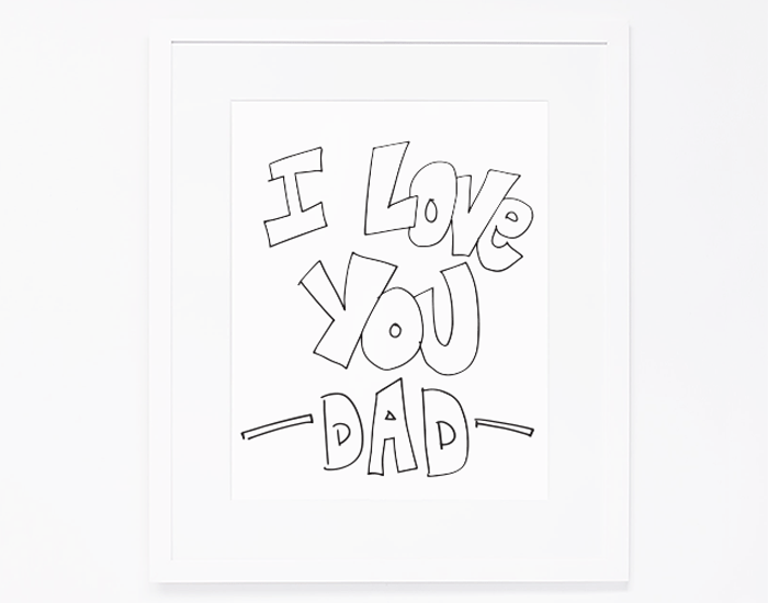 Father's Day Printable Coloring Sheet | by Ashlee Proffitt | Intentional Mama Series