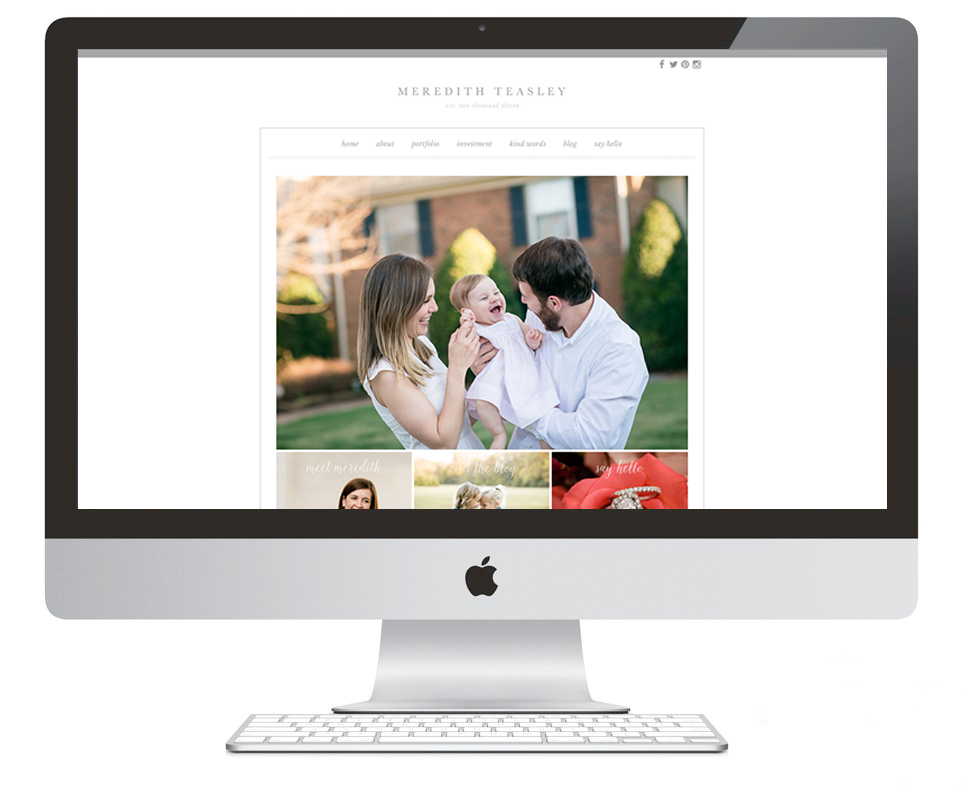 Meredith Teasley Brand, Collateral & Website by Ashlee Proffitt