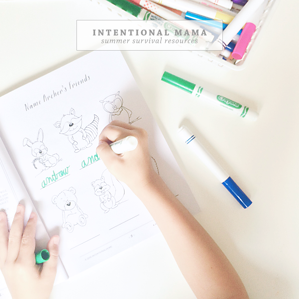 Summer Survival Resources for Mamas | Intentional Mama Series by Ashlee Proffitt