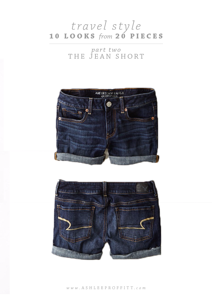 Travel Style: 10 Looks with 20 Pieces | Part Two: The Jean Short | Intentional Style by Ashlee Proffitt and Megan Michele