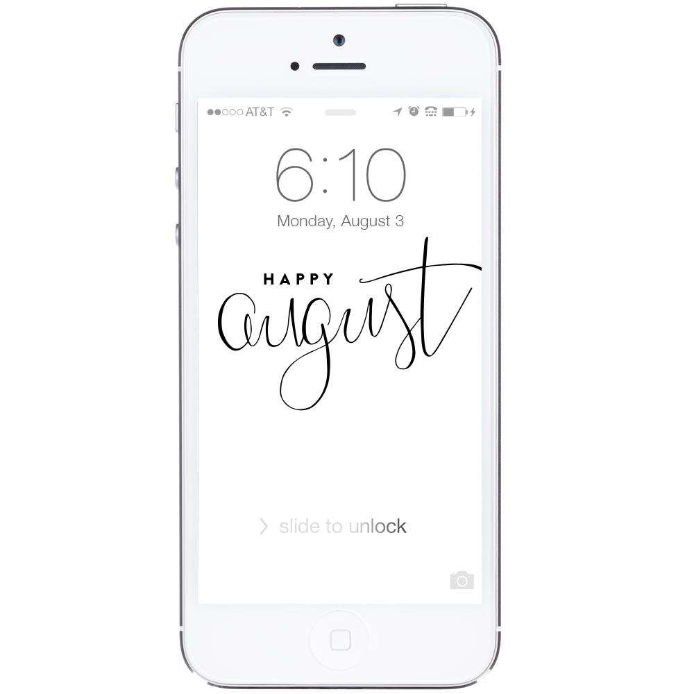Free Computer Desktop + iPhone Wallpapers | ashleeproffitt.com/blog | Brush Lettering by Ashlee Proffitt