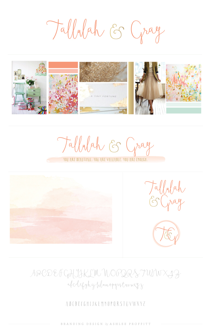 Tallulah & Gray Brand Elements by Ashlee Proffitt