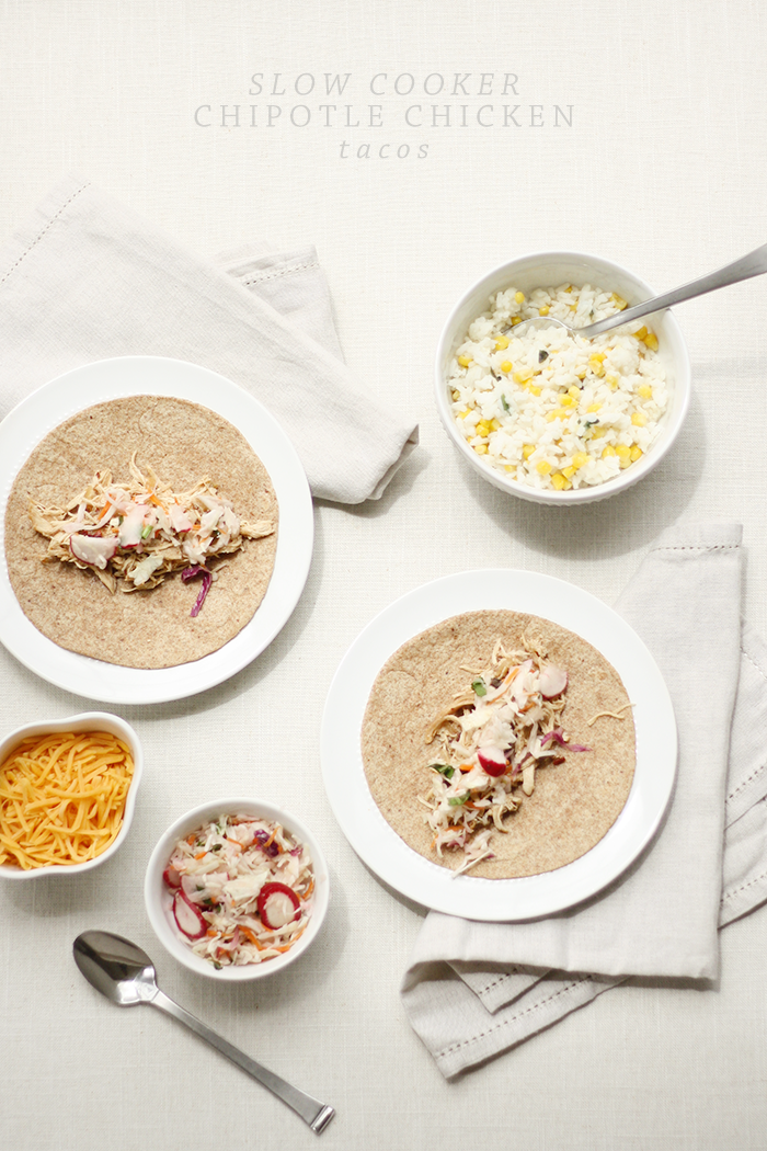 Recipe: Chipotle Chicken Tacos with Cabbage-Radish Slaw | Ashlee Proffitt