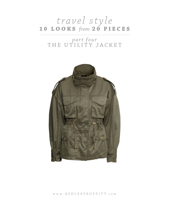 Travel Style: 10 Looks with 20 Pieces | Part Four: The Utility Jacket | Intentional Style by Ashlee Proffitt and Megan Michele | Utility Jacket by H&M