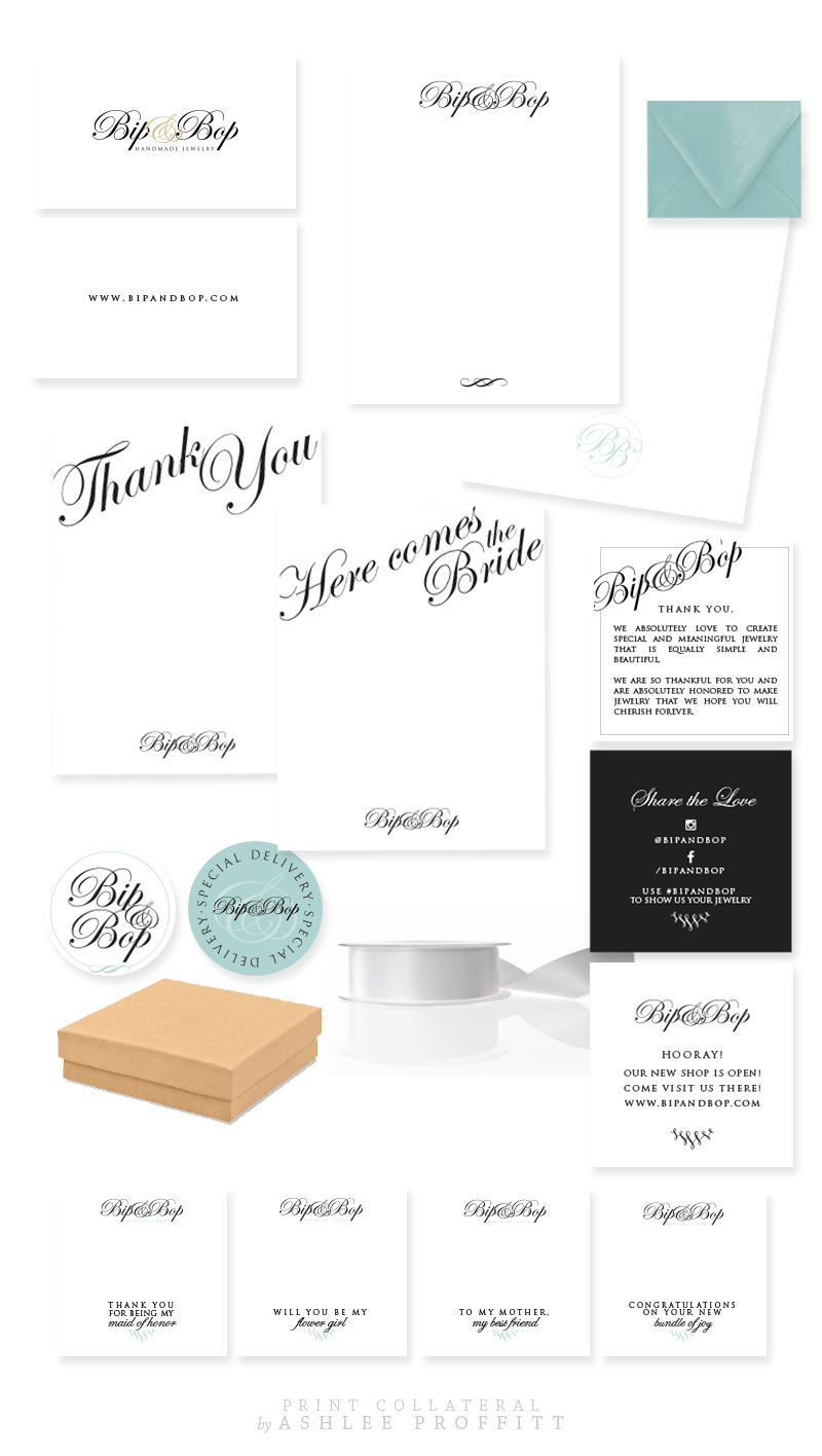 Bip & Bop Brand & Collateral Elements by Ashlee Proffitt