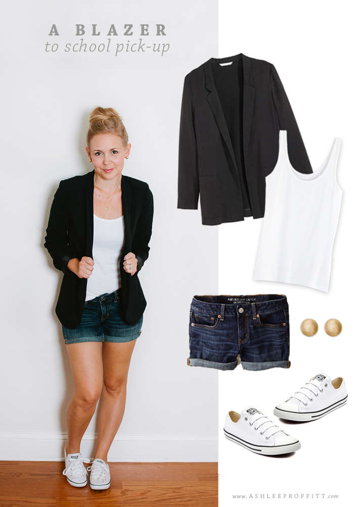How to Wear A Blazer: To School Pick-Up