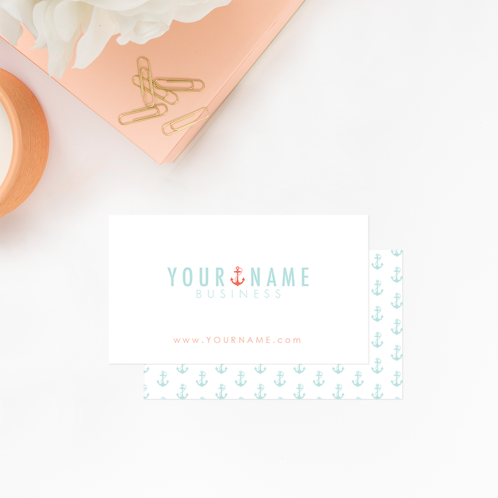 The Branding Parlor | Fresh & Nautical Pre-Made Brand Collection by Ashlee Proffitt