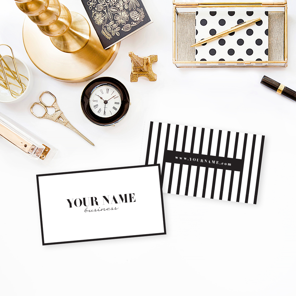 The Branding Parlor | Luxurious Black & White | Pre-Made Brand Collection by Ashlee Proffitt