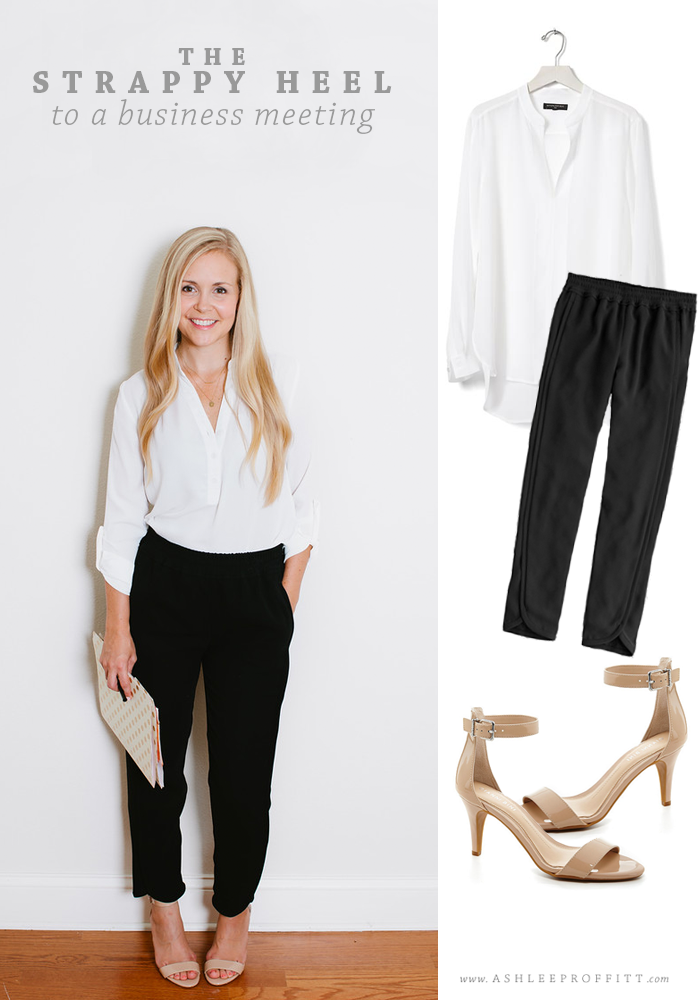 How To Wear A Strappy Heel 3 Ways: To A Business Meeting | Intentional Style by Megan Michele & Ashlee Proffitt