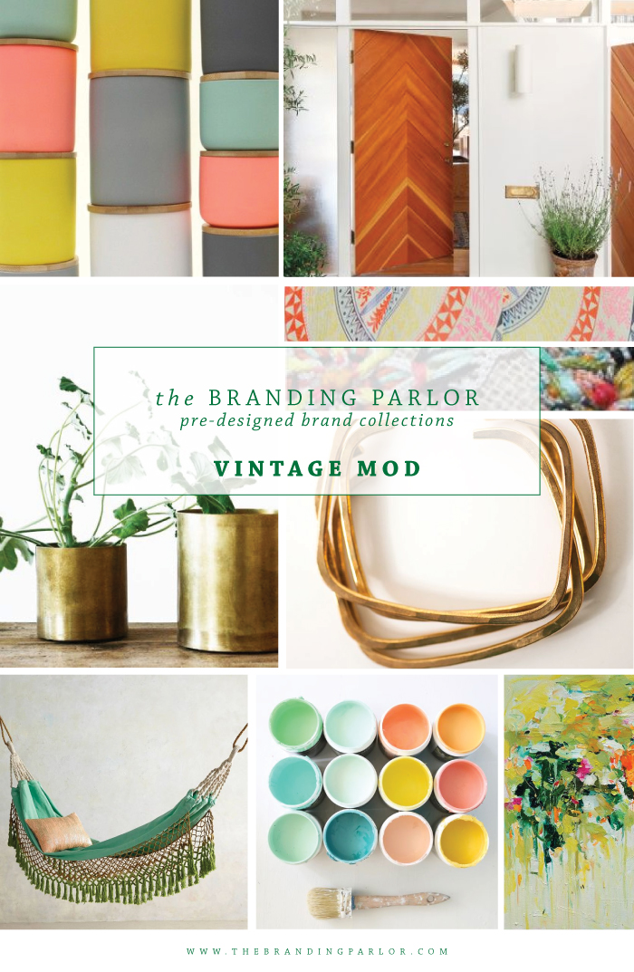 The Branding Parlor: Pre-Designed Brand Collections | Vintage Mod | www.TheBrandingParlor.com