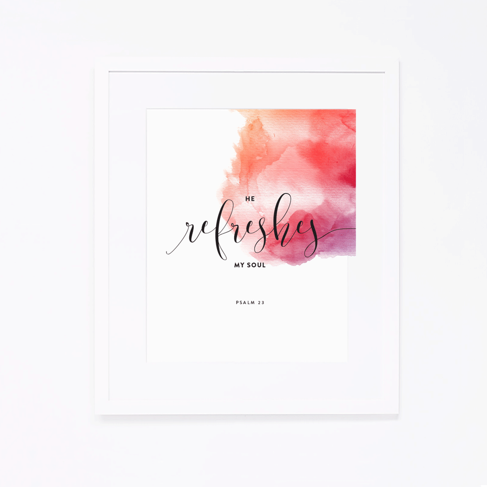 Psalm 23 | Art Print by Ashlee Proffitt