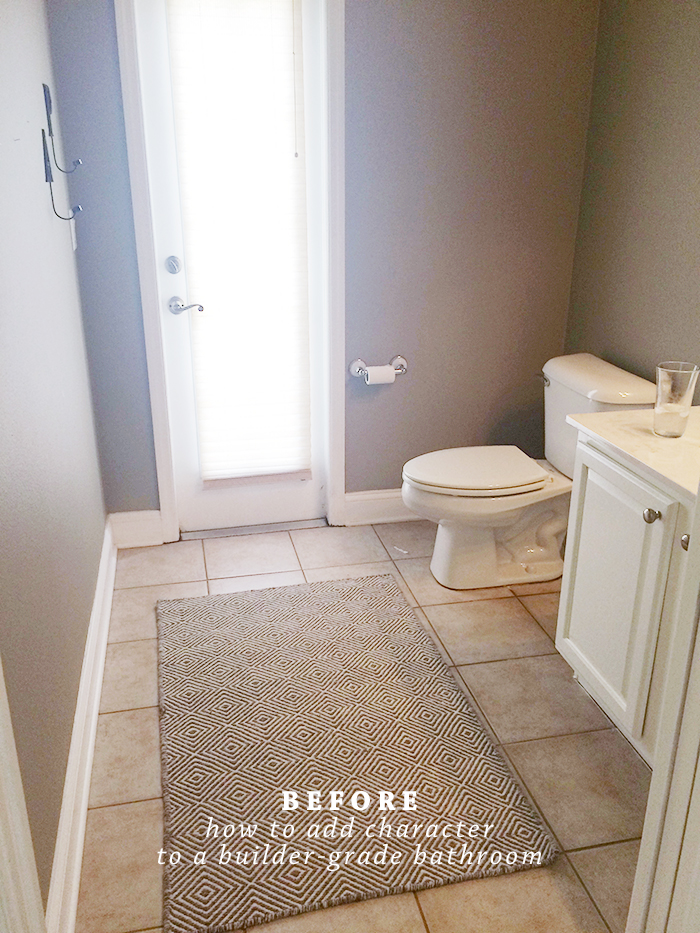 How To Add Character To A Builder-Grade Bathroom | Ashlee Proffitt